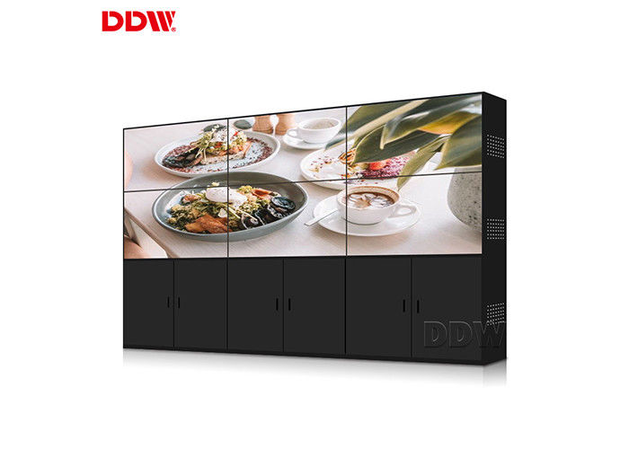 Vertical 3*3 LCD Video Wall Display For Exhibition And Show Center